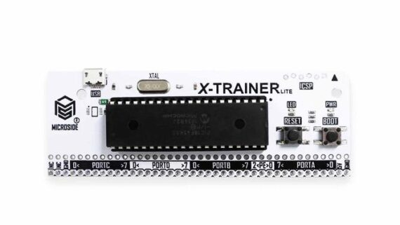 RX-TRAINER LITE TRAINER WITH MALE HEADER, INCLUDES PIC18F45K50